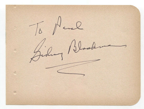 Sidney Blackmer Signed Album Page Vintage Autographed Signature Rosemary's Baby