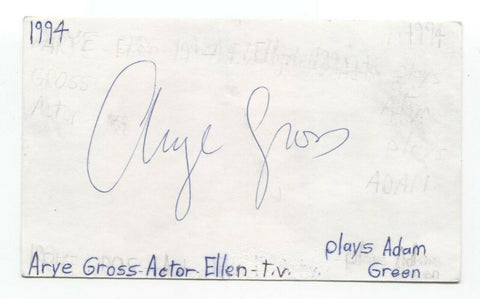 Arye Gross Signed 3x5 Index Card Autograph Signature Actor