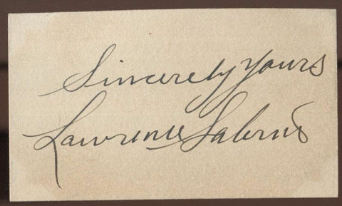 Lawrence Salerno Signed Card  Autographed  Orchestra AUTO Vintage Signature
