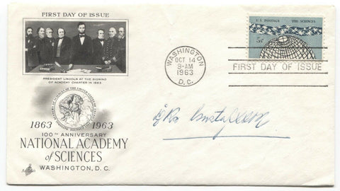Carl Gustafsson Signed FDC First Day Cover Autographed Vintage Geneticist