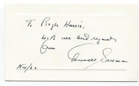 Maxwell Geismar Signed Card Autographed Signature Author