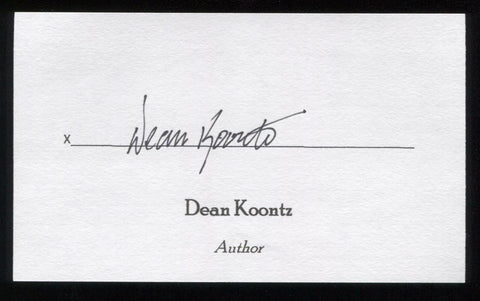 Dean Koontz Signed 3x5 Index Card Signature Autographed Author