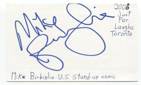 Mike Birbiglia Signed 3x5 Index Card Autograph Signature Actor Comedian