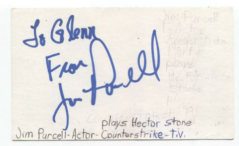 James Purcell Signed 3x5 Index Card Autographed Signature Actor
