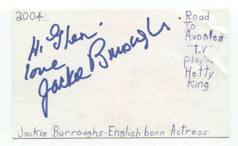 Jackie Burroughs Signed 3x5 Index Card Autographed Signature Ewoks Star Wars