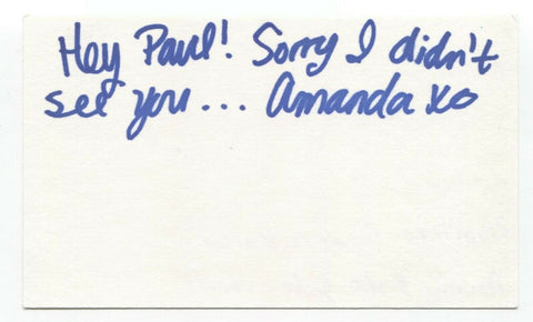 Plumtree - Amanda Braden Signed 3x5 Index Card Autographed Signature Band