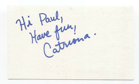 Plumtree - Catriona Sturton Signed 3x5 Index Card Autographed Signature Band