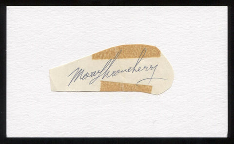 Marv Throneberry Signed Cut Autographed Index Card Circa 1962 Baseball Signature