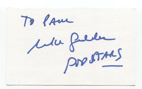 Michael Geddes Signed 3x5 Index Card Autographed Signature Creator Producer