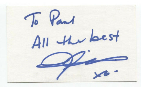 Joely Collins Signed 3x5 Index Card Autographed Signature Actress