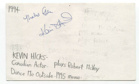 Kevin Hicks Signed 3x5 Index Card Autographed Signature Actor EastEnders