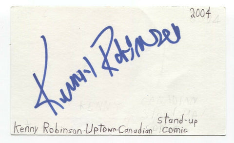 Kenny Robinson Signed 3x5 Index Card Autographed Signature Comedian Actor