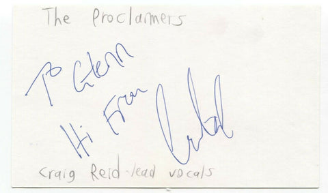 The Proclaimers - Craig Reid Signed 3x5 Index Card Autographed Signature Band