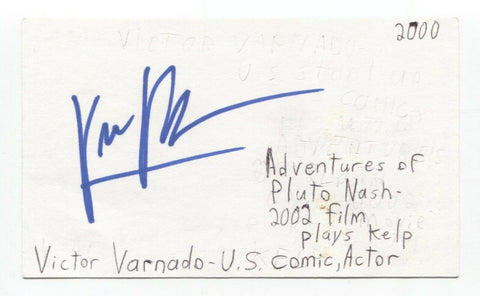 Victor Varnado Signed 3x5 Index Card Autographed Signature Actor Comedian
