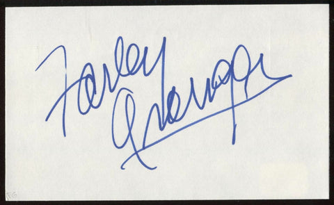 Farley Granger Signed Index Card Signature Autographed AUTO