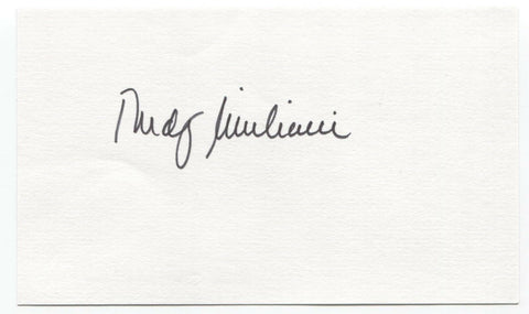Rudy Giuliani Signed Card Vintage Autographed New York City Major