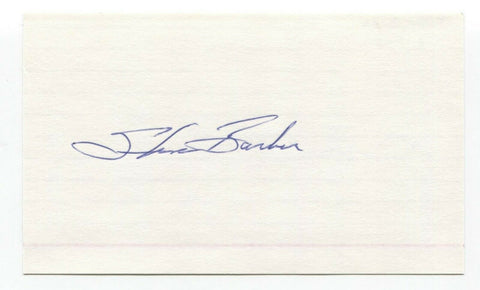 Steve Barber Signed 3x5 Index Card Baseball Autographed Signature