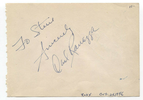 Carl Ravazza and Marc Platt Signed Album Page Vintage Autographed Signature