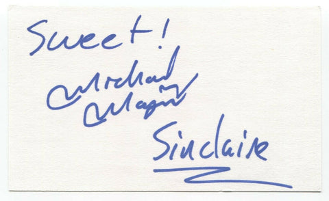 Sinclaire Mike Maxymuik Signed 3x5 Index Card Autographed Signature Band