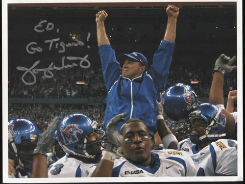 Tommy West Signed 8.5 x 11 Photo College NCAA Football Coach Autographed