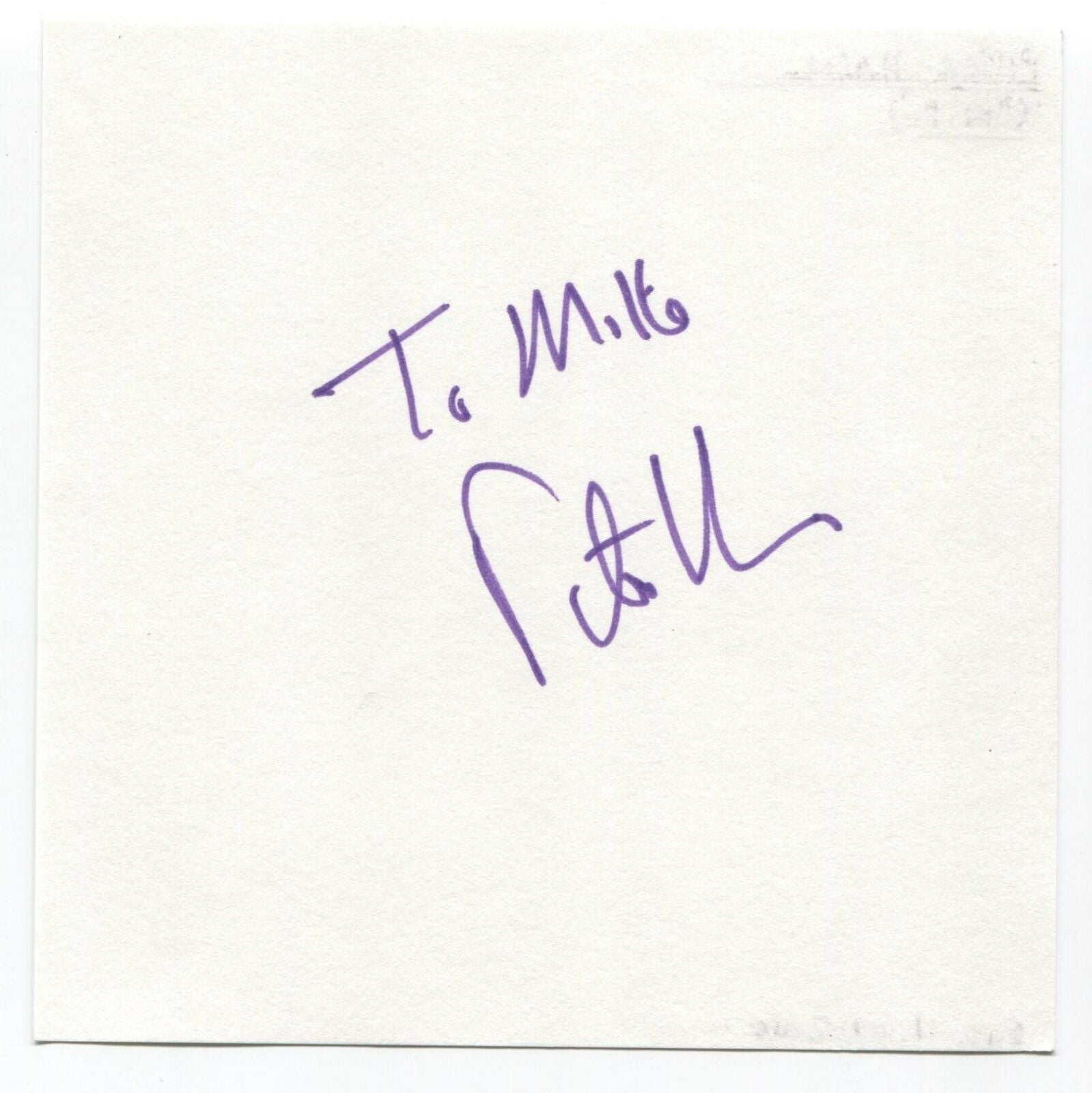 """Peter Hain Signed Page Autographed Signature """"To Mike"""" M.P. Politician"""