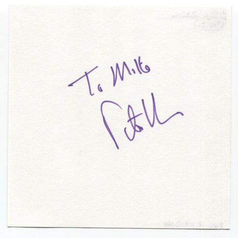 "Peter Hain Signed Page Autographed Signature ""To Mike"" M.P. Politician"