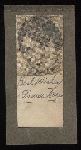 Grace Hayes Signed Cut Autographed Album Page w/ Magazine Photo 1932 AUTO