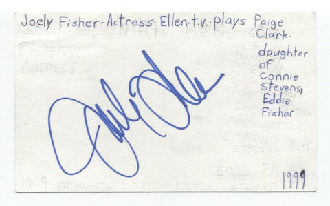 Joely Fisher Signed 3x5 Index Card Autographed Signature Actress Ellen