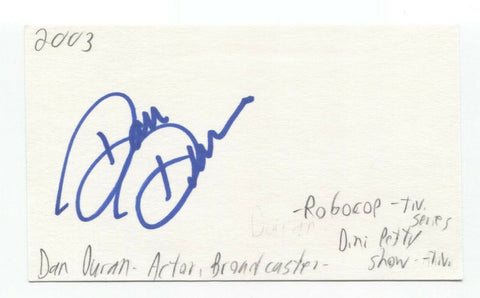 Dan Duran Signed 3x5 Index Card Autographed Signature Actor Broadcaster
