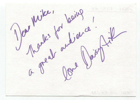 "Daisy Aitkens Signed Album Page Autographed Signature Inscribed ""To Mike"""