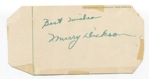 Murry Dickson Signed Cut GPC Autographed Baseball 1946 St Louis Cardinals