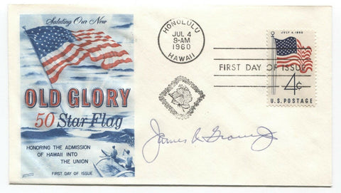 James R. Grover Jr. Signed FDC First Day Cover Autographed Vintage Signature