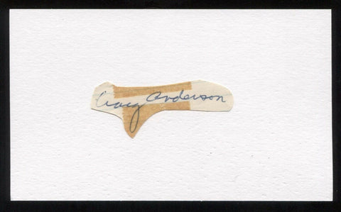 Craig Anderson Signed Cut Autographed Index Card Circa 1962 Baseball Signature