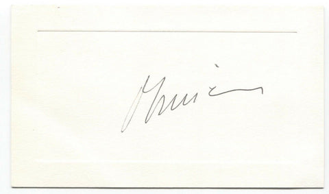 Olivier Guichard Signed Card Autographed Vintage Signature French Politician
