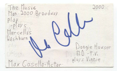 Max Casella Signed 3x5 Index Card Autographed Signature Actor The Sopranos