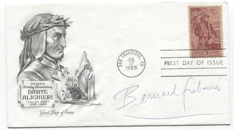 Bernard Grebanier Signed FDC First Day Cover Autographed Vintage Signature