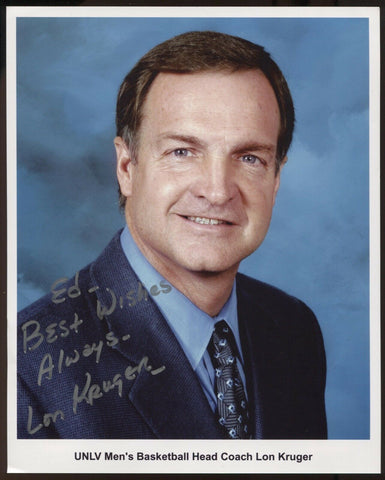 Lon Kruger Signed 8x10 Photo College NCAA Basketball Coach Autographed Oklahoma