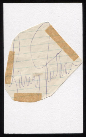 Larry Jackson Signed Cut Autographed Index Card Circa 1962 Baseball Signature