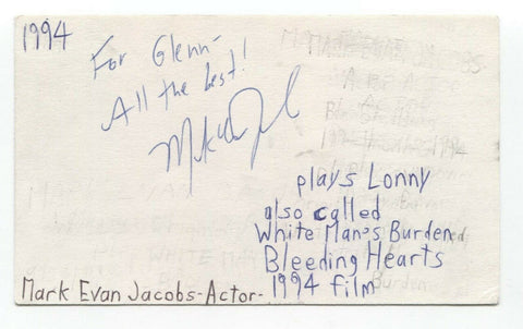 Mark Evan Jacobs Signed 3x5 Index Card Autographed Signature Actor Goodfellas