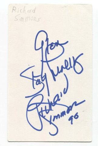Richard Simmons Signed 3x5 Index Card Autographed Signature Fitness Instructor
