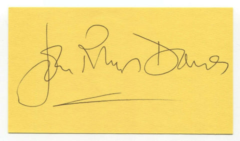 John Rhys-Davies Signed 3x5 Index Card Autographed Signature Indiana Jones
