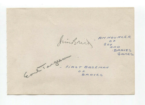 Eddie Stanky Signed Album Page Autographed Baseball Vintage 1940s Boston Red Sox