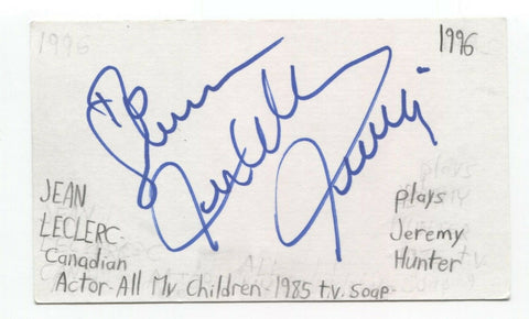 Jean LeClerc Signed 3x5 Index Card Autographed Signature Actor Dracula