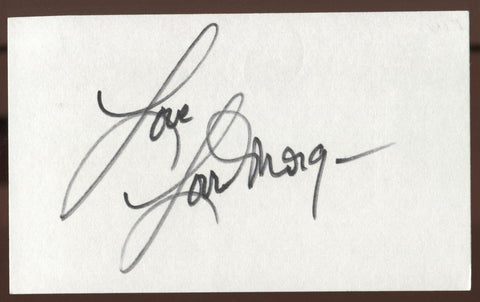 Lorrie Morgan Sgned Index Card 3x5 Autographed Signature AUTO Vintage