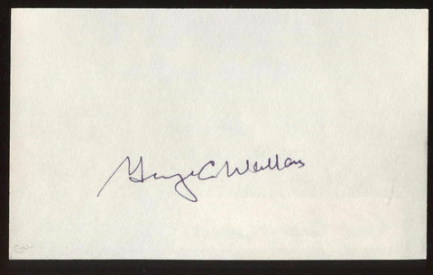 George C. Wallace  Signed Index Card Autographed Circa 1993  Signature AUTO