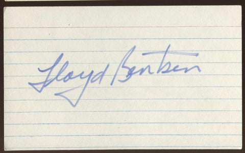 Lloyd Bentsen Signed Index Card 3x5 Autographed Signature AUTO