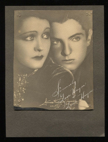 Grace Hayes and Peter Lind Hayes Signed Photo from 1932 Autographed Signature