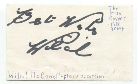 Irish Rovers - Wilcil McDowell Signed 3x5 Index Card Autographed Signature Band