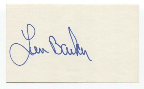 Len Barker Signed 3x5 Index Card Autographed Baseball Perfect Game