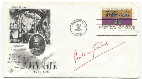 Baron Tony Greenwood Signed FDC First Day Cover Autograph Vintage Signature
